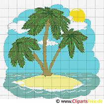 Kreuzstich tropische Insel