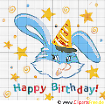 Birthday cross stich template