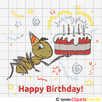 Cross Stitch Template Birthday