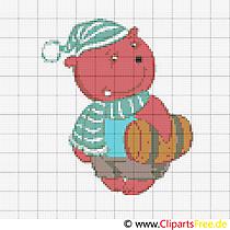 Darmowe szablony haftu dla dzieci Teddaybär