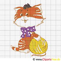 Wzory krzyżykowe za darmo kota
