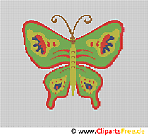 Stickbild Vorlage Schmetterling