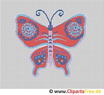 Motyl wolny od haftu
