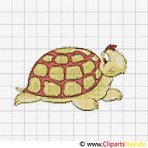 Stickvorlage Kreuzstich zum Ausdrucken Schildkröte
