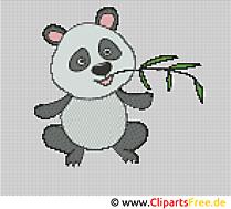 Szablon haftu Panda - szablony haftu za darmo