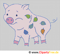 Haftowane szablony rolnicze świnie