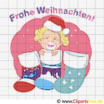 Baby zu Weihnachten Stickvorlage Bild