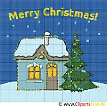 Kostenlose Stickmuster zu Weihnachten und Neujahr