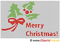 Kreuzstich Muster zu Weihnachten