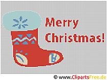 Kreuzstichmotive Merry Christmas - Frohe Weihnachten