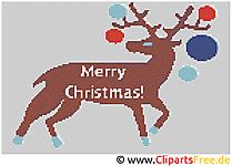 Stickbild zu Weihnachten kostenlos