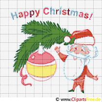 Stickmuster, Stickvorlage Merry Christmas