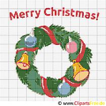 Stickvorlage zu Weihnachten, Advent