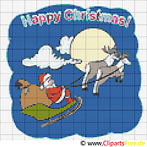 Stickvorlagen download Merry Christmas