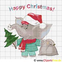 Stickvorlagen gratis zu Weihnachten