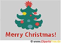 Stickvorlagen kostenlos Weihnachtsbaum