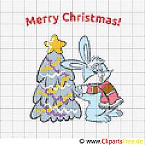 Stickvorlagen zum Ausdrucken kostenlos zu Weihnachten