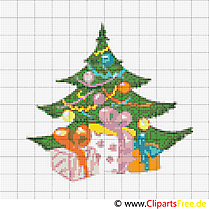 Weihnachtsbaum Stickvorlage