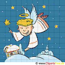 Weihnachtsmotive als Stickvorlagen zum Ausdrucken