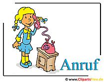 Anruf Clipart Telefon Cartoon