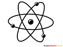 Atom Clipart fuer Schule