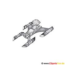 Spaceship Clipart, Bild, Cartoon, Grafik, Illustration