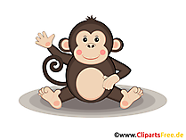 Affe im Zoo Clipart, Grafik, Illustration, Bild gratis