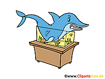 Aquarium Clipart, Bild, Comic, Cartoon gratis