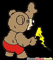 Bear Formula 1 Clipart, Afbeelding, Cartoon, Grafisch, Illustratie
