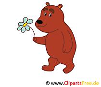 無料で印刷可能な漫画のクマの絵