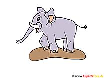 Comic Elefant