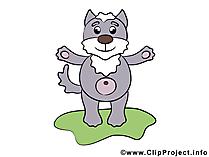 漫画のオオカミ