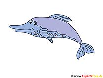 イルカの魚のクリップアート