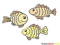 川の魚のクリップアート