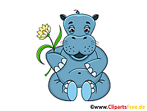 Flusspferd Clipart, Grafik, Illustration, Bild gratis