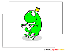 Froschprinz Cartoon-Bild free