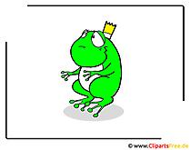Kikkerprins cartoon afbeelding gratis