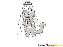 Cartone animato doccia, clip art, foto, illustrazione