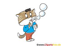 I postumi di una sbornia fanno le bolle di sapone clipart, foto, illustrazioni