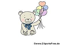 Gratis dieren foto's - Baer met ballonnen
