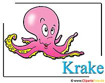 Krake Clipart-Bild kostenlos