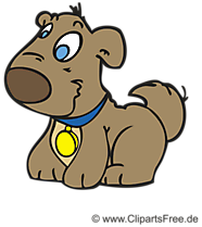 Lachender Hund Cartoon