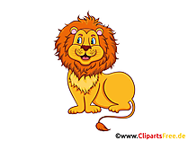 Löwe im Zoo Clipart, Grafik, Illustration, Bild gratis