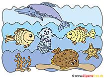 Meeresgrund Fische Cipart