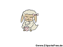 Schapen afbeelding clipart - gratis dierlijke afbeeldingen