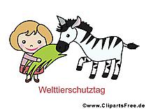 Werelddierendag beeld, clipart, afbeelding, tekenfilm