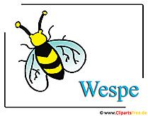 ワスプクリップアートフリーの昆虫