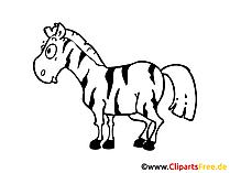 Zebraafbeelding, Clipart, Illustratie, Strip, Cartoon gratis
