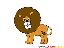 Löwe im Zirkus Bild, Clipart, Illustration