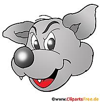 Kartun serigala gratis